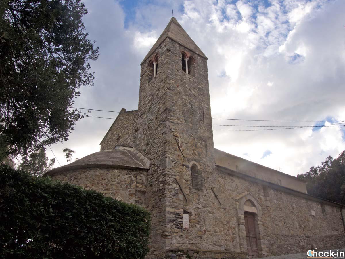 Scorcio della Chiesa di San Nicolò a Sestri Levante (Liguria)