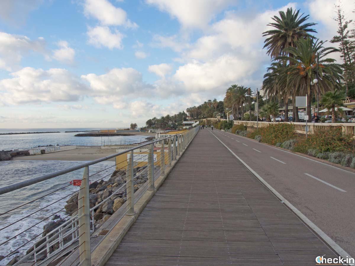 Itinerario ciclopedonale attraverso la città di Sanremo (Liguria)
