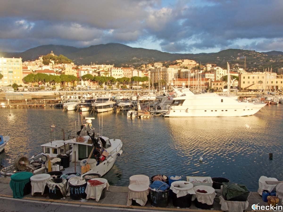 Pesce fresco in vendita al Porto vecchio di Sanremo (Liguria)