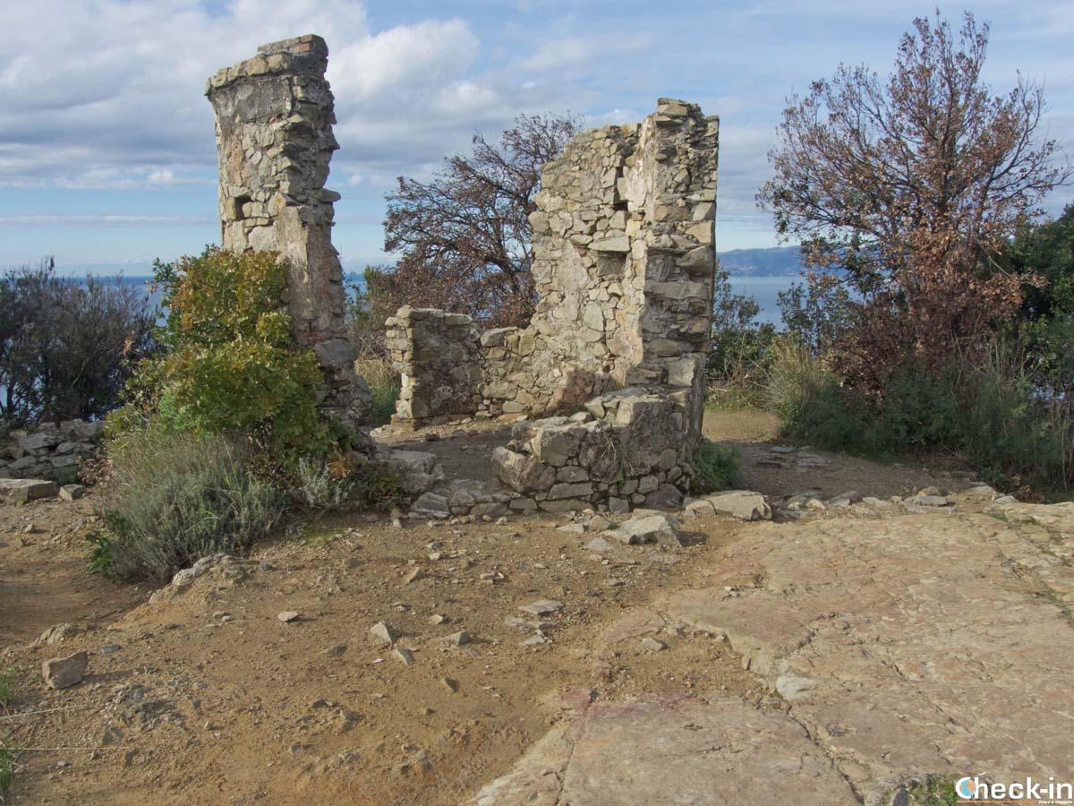 Resti di torretta di guardia a Punta Manara (Sestri Levante)