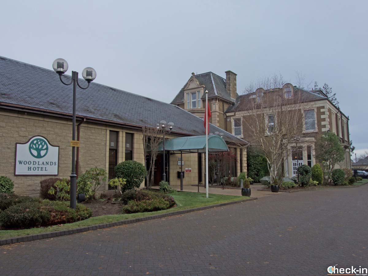 Ingresso del Woodlands Hotel a Broughty Ferry, nei dintorni di Dundee