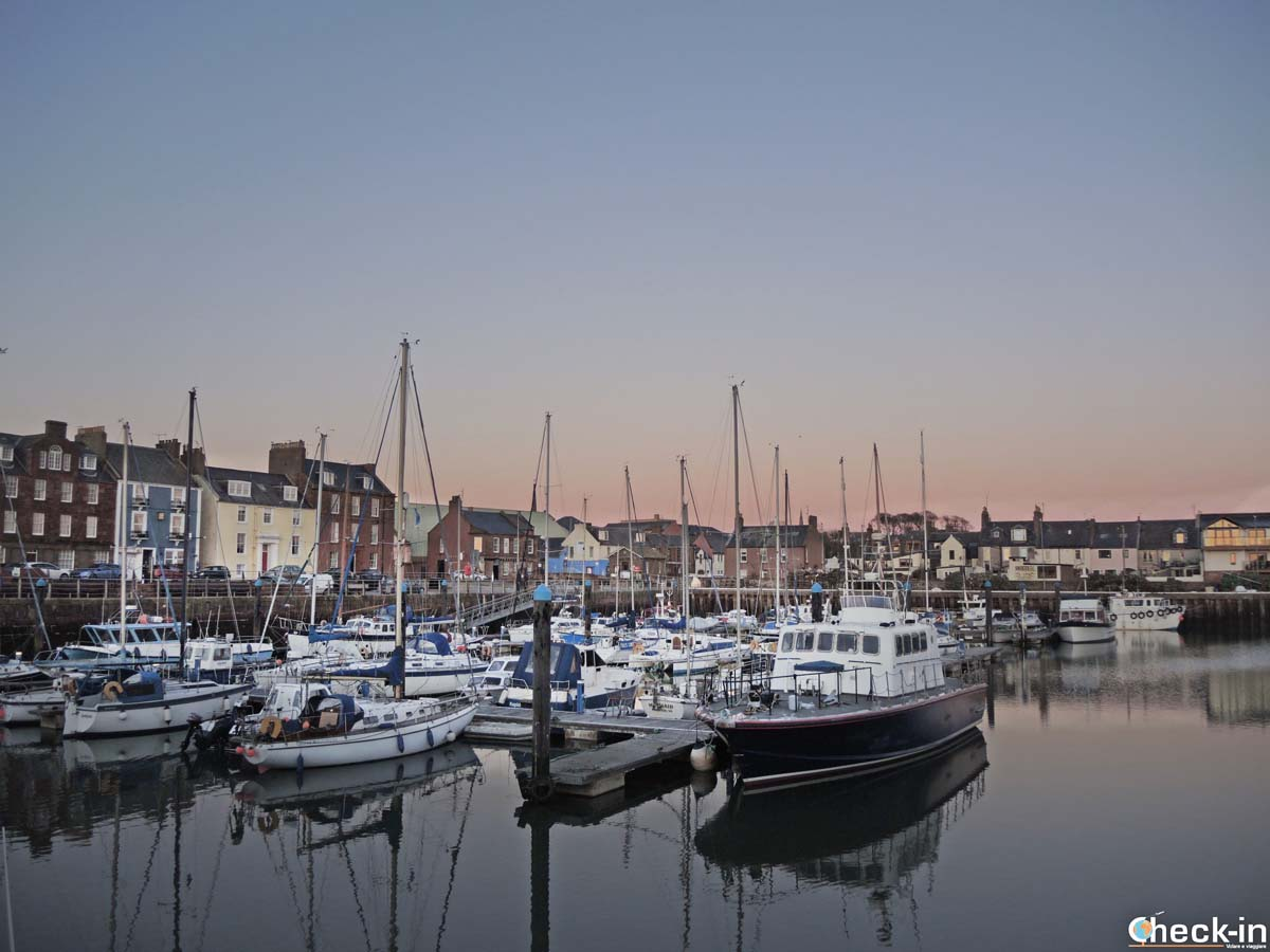Sunset time in Arbroath harbour - Angus, East Scotland
