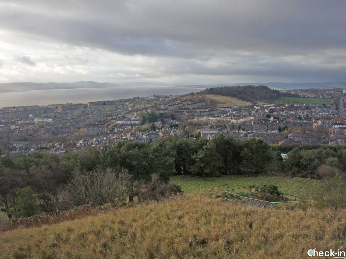 Panoramic view from Dundee Law - Scotland's East Coast