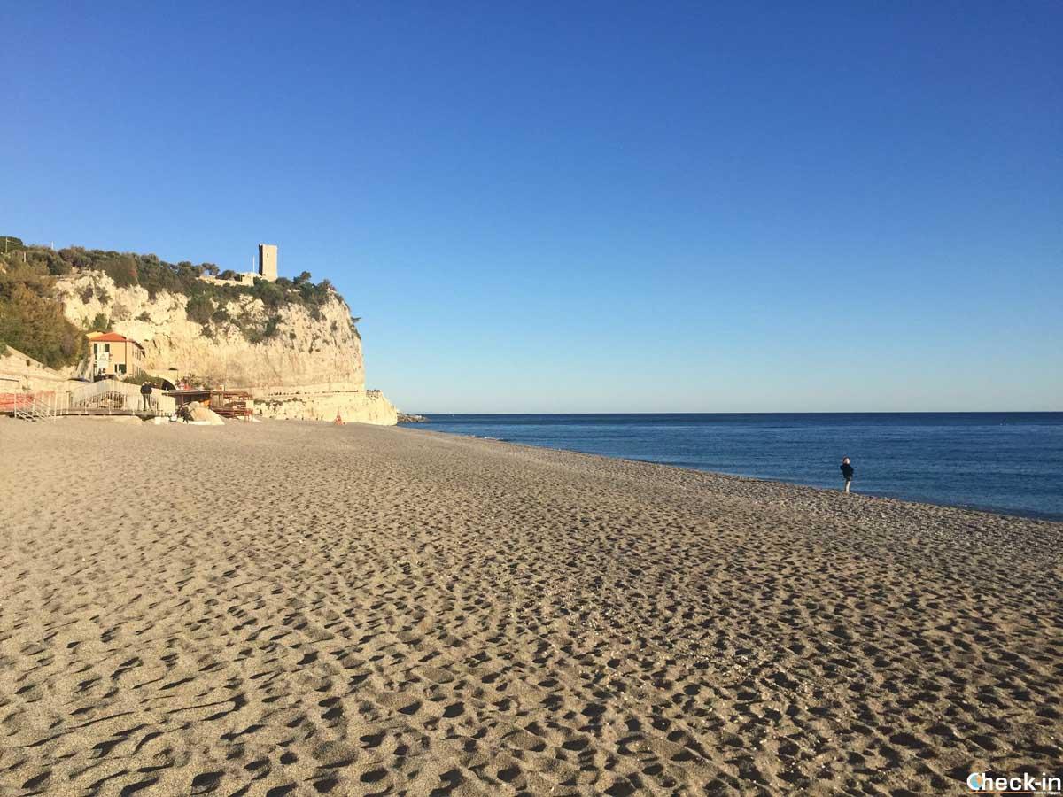 Spiaggia di San Donato, la più bella di Finale Ligure