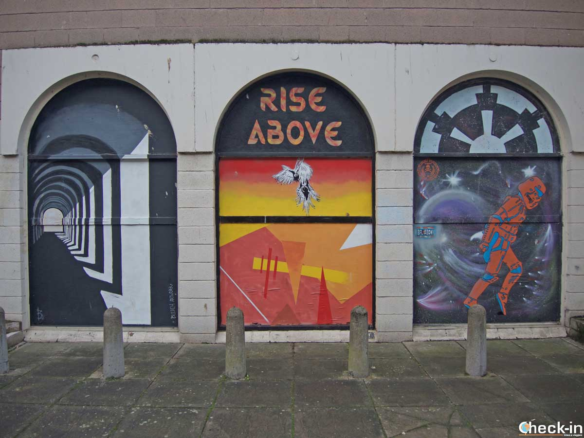 Street art in the centre of Dundee (Scotland)