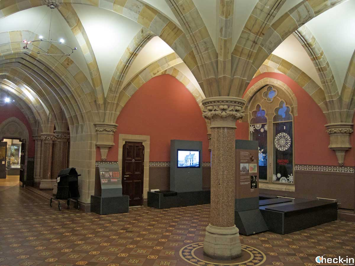 Inside the McManus Galleries in the centre of Dundee (East Scotland) - Free entrance