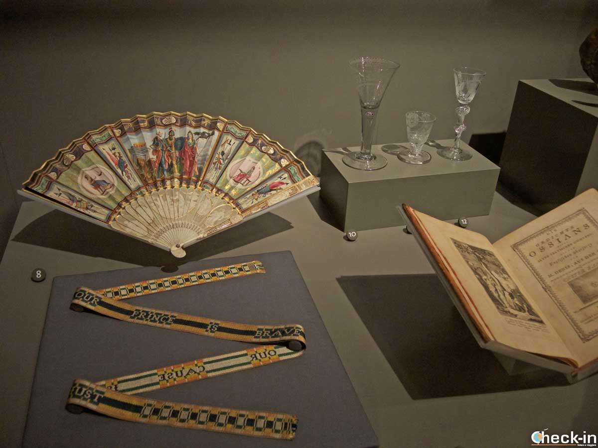 Cimeli giacobiti esposti al Museo V&A di Dundee