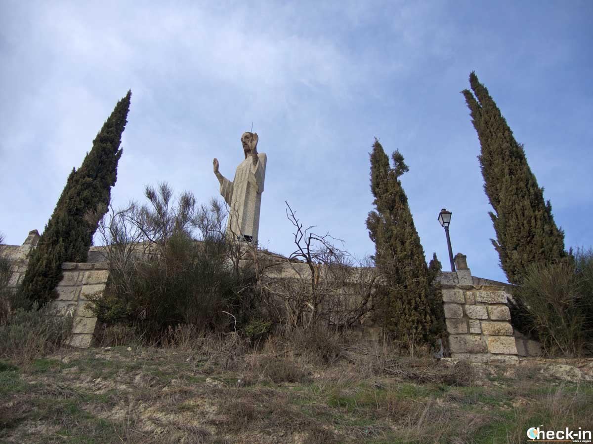 Salita al Cristo del Otero a Palencia (Spagna)