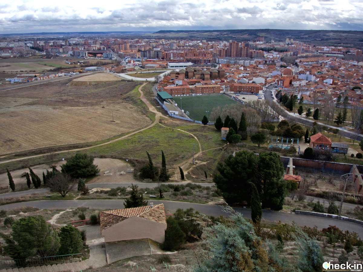 Scorcio di Palencia dalla cima del Cristo del Otero