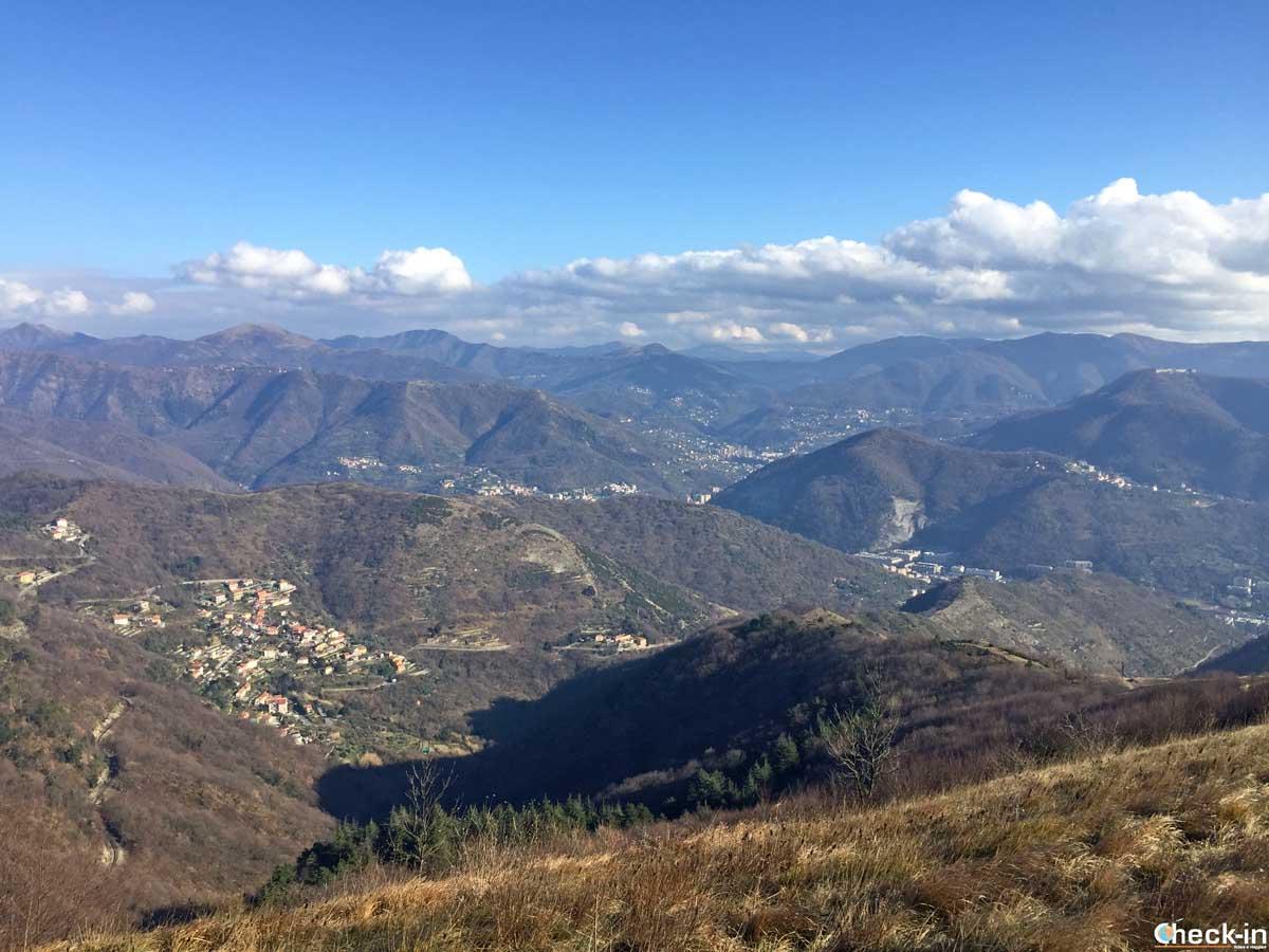 Itinerario per l'entroterra di Genova - Liguria