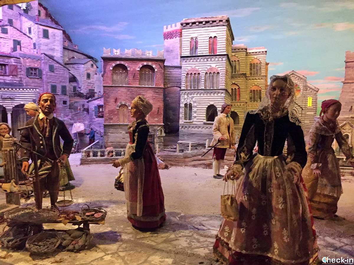 Il presepe genovese all'interno del Santuario della Madonnetta di Genova