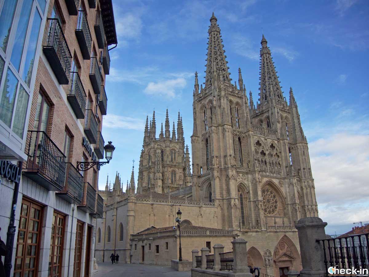 Vista della Cattedrale di Burgos, Patrimonio UNESCO dell'Umanità