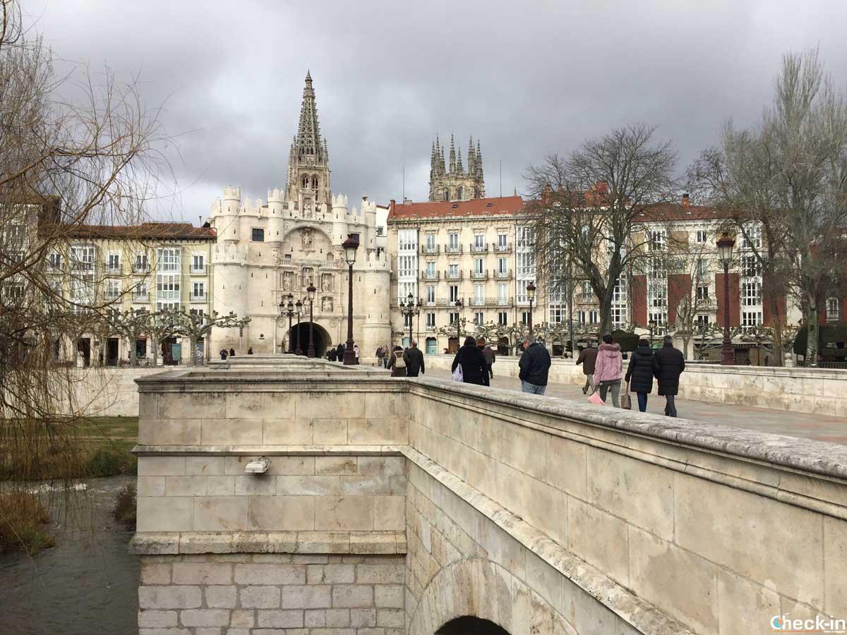El Arco de Santa María en Burgos (España)