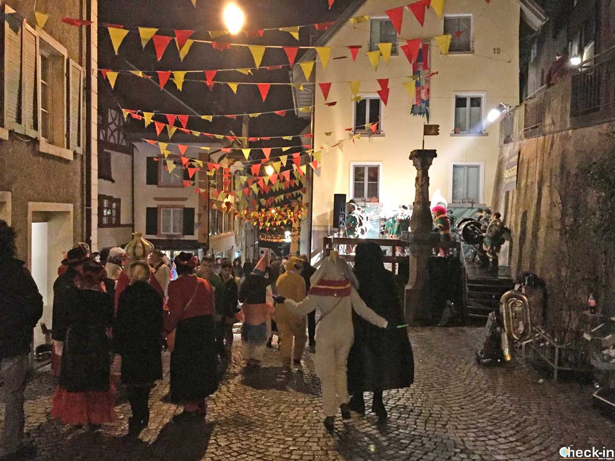 Festa di Carnevale a Laufenburgh (Svizzera) by night