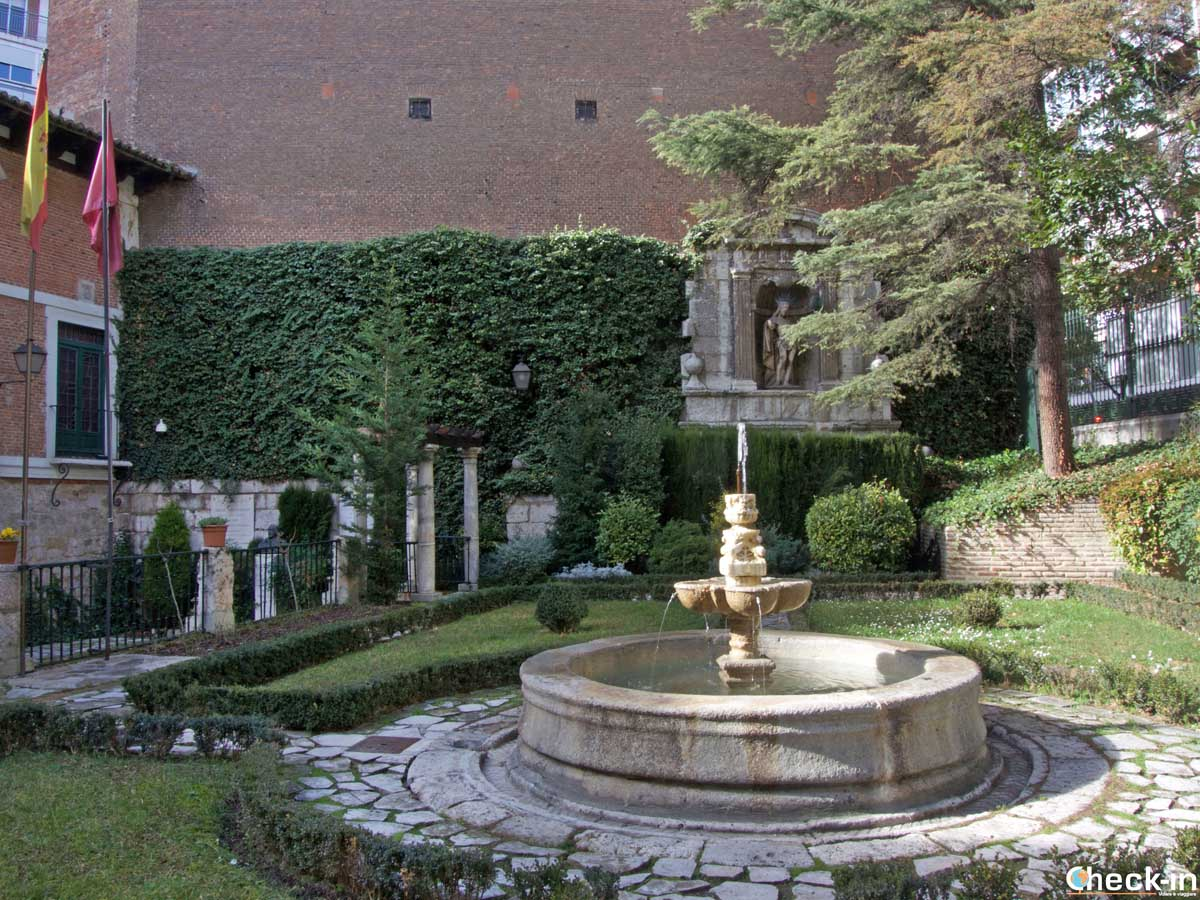 I giardini della Casa Museo di Cervantes a Valladolid