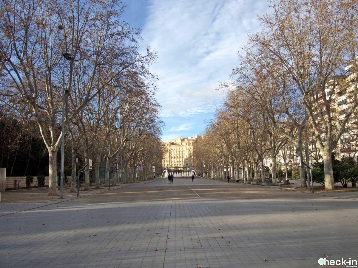 """Il """"Paseo de Zorrilla"""" nel centro di Valladolid"""
