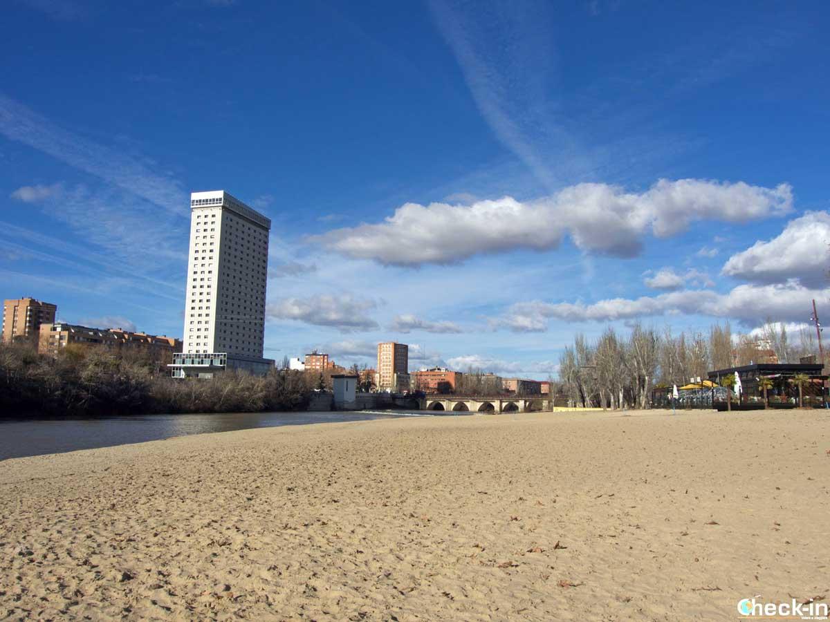 La playa fluviale de las Moreras di Valladolid