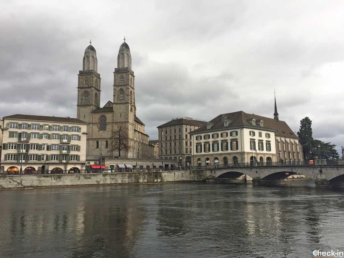 """Il Duomo di Zurigo e la """"Chiesa sull'acqua"""""""