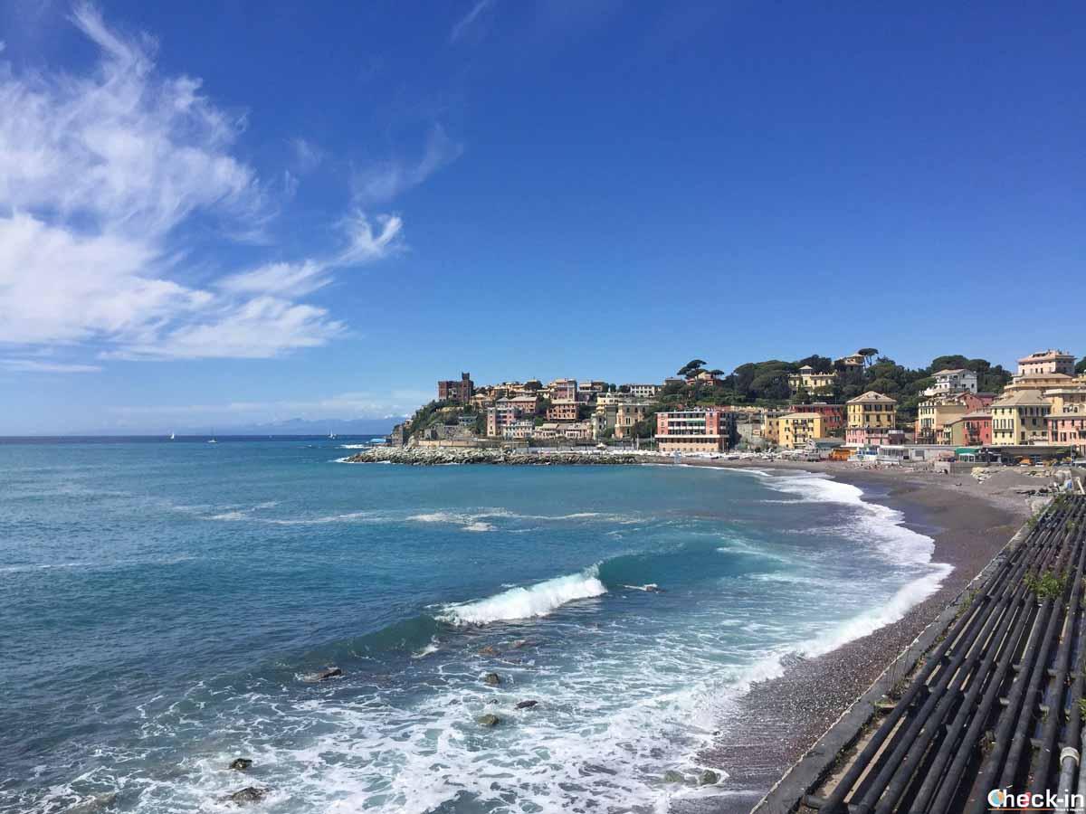 Scorcio di Genova Quarto dei Mille - Liguria a piedi