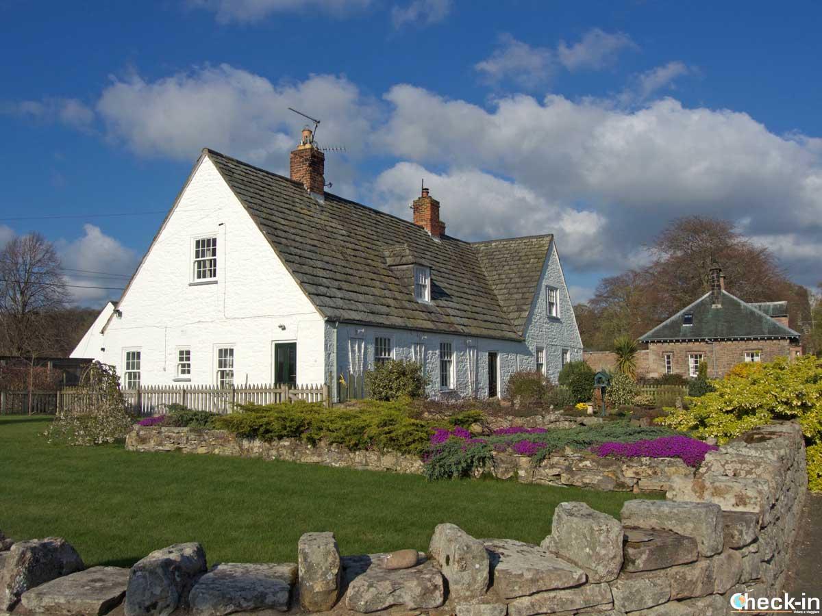Case di etal, villaggio inglese vicino al confine con la Scozia
