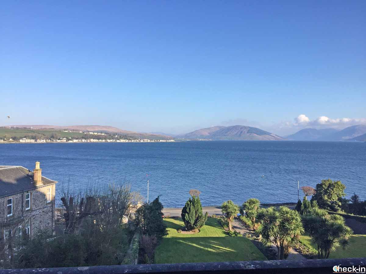 Vista dal bar del Glenburn Hotel di Rothesay (Scozia)