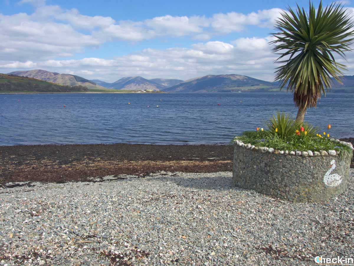 La West Island Way all'altezza di Port Banantyne a Bute