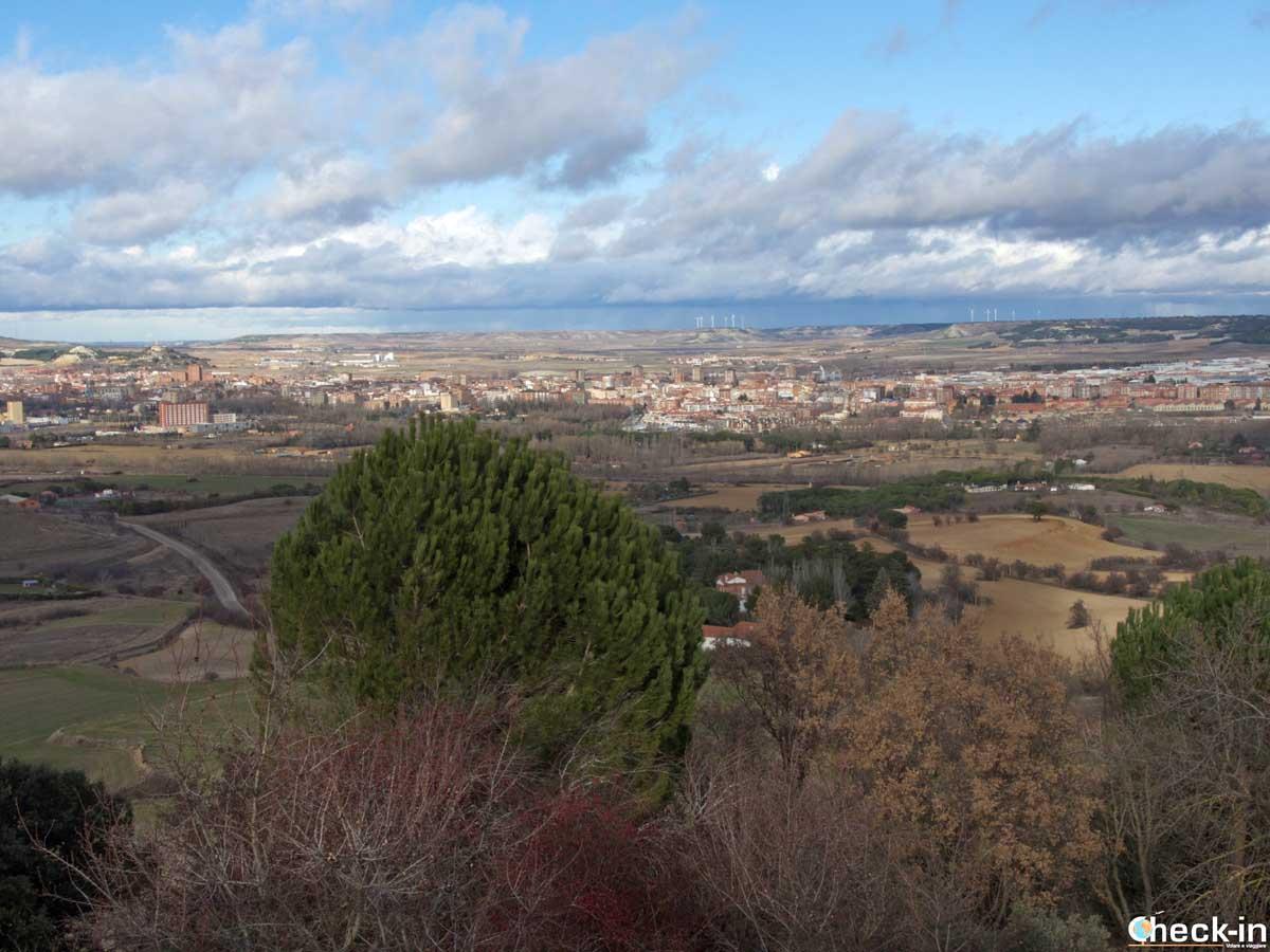Panorama de Palencia y Tierra de Campos desde la cima del Monte El Viejo