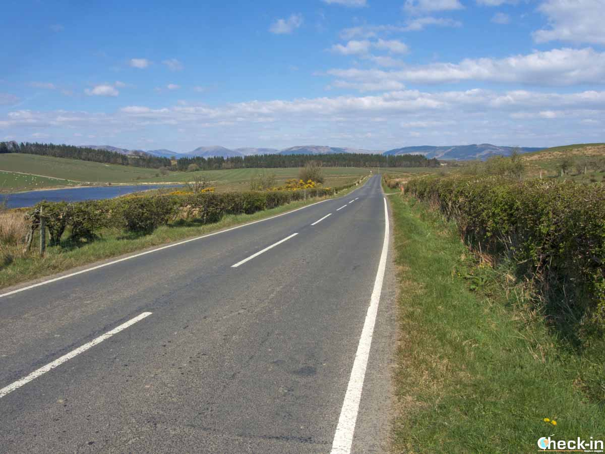 "Strada ""trafficata"" vicino a Rothesay (Bute)"