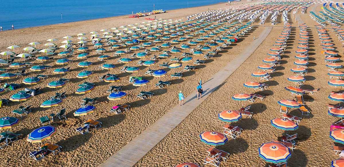 Vacanza al mare in Italia: spiaggia di Bibione