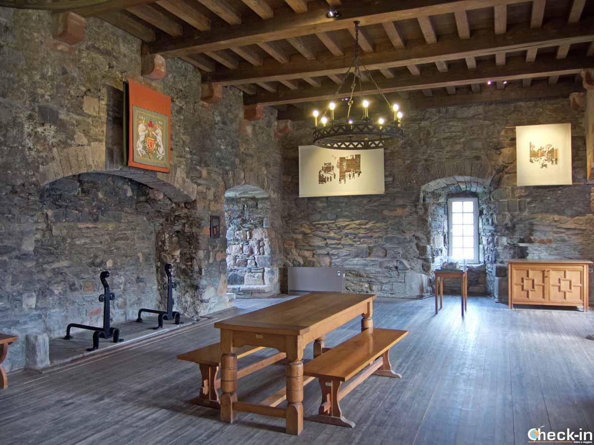Sala interna del Rothesay Castle - Argyll and Bute, Scozia