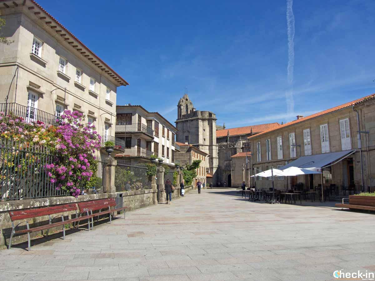 Scorci del nucleo antico di Pontevedra, Spagna settentrionale
