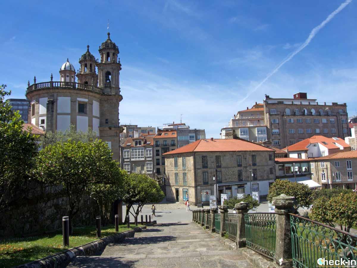 La Iglesia de la Peregrina a Pontevedra (Galizia)