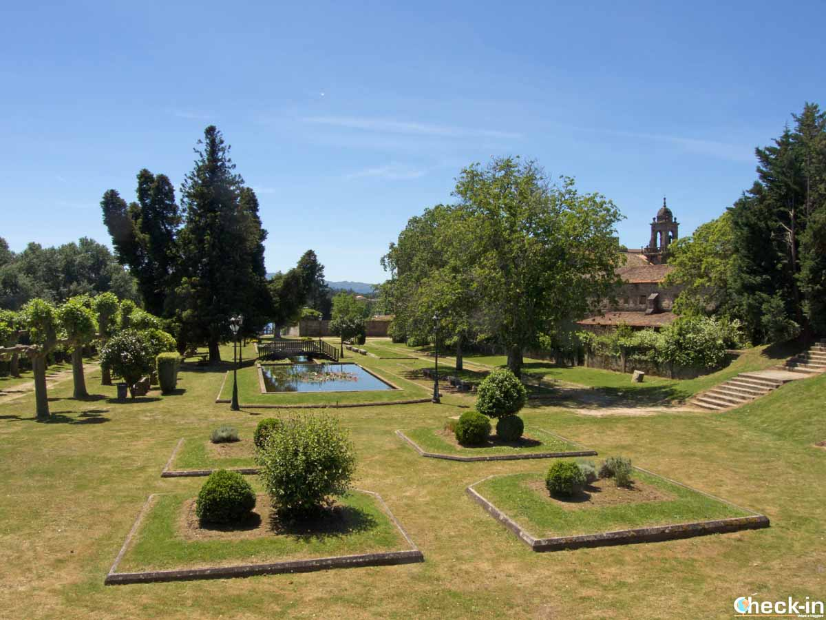 Scorcio del Parque Alameda di Tui (Spagna)