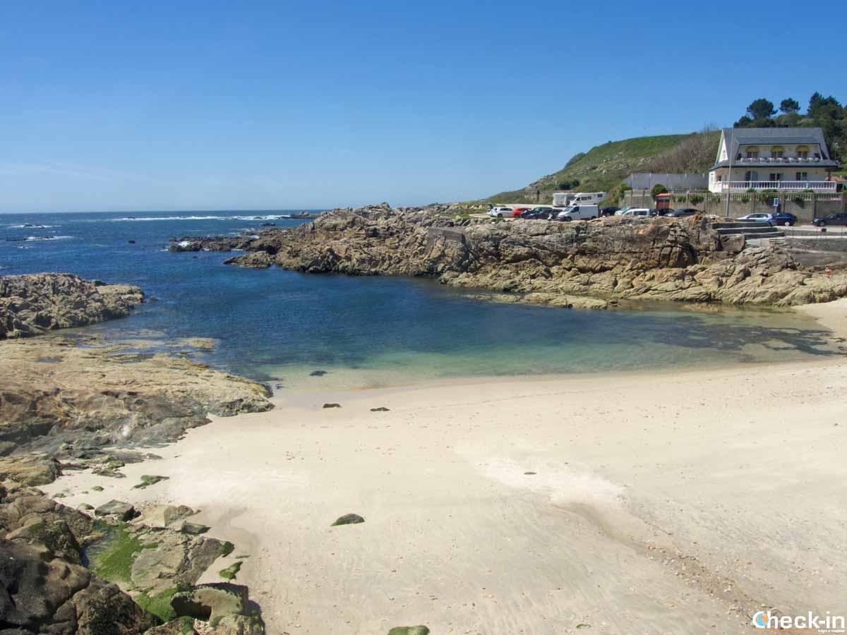 Mare con acqua cristallina in Spagna: A Guarda, Galizia