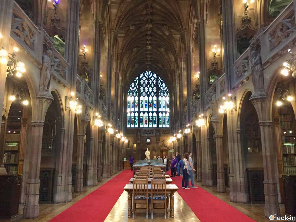 Visita della John Rylands Library a Manchester