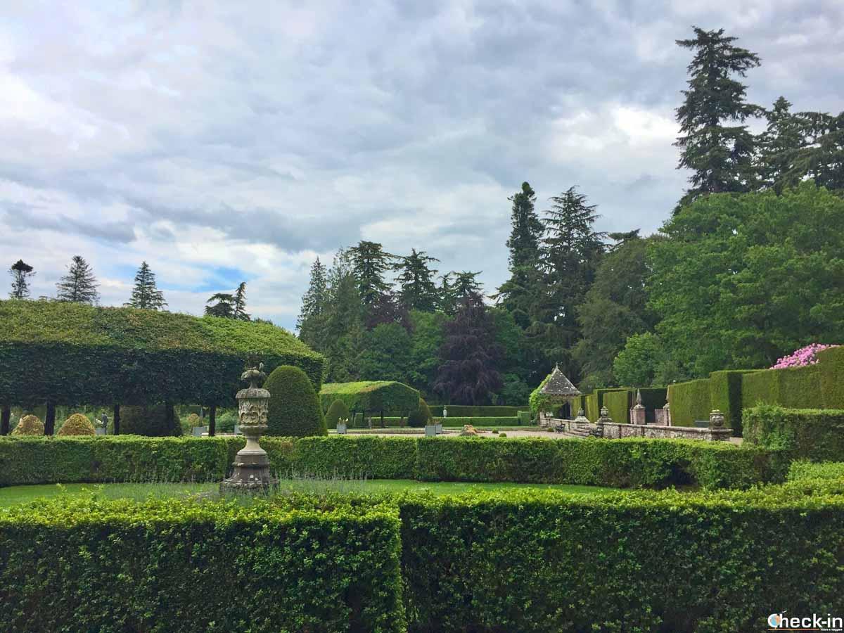 Il giardino all'italiana al Glamis Castle