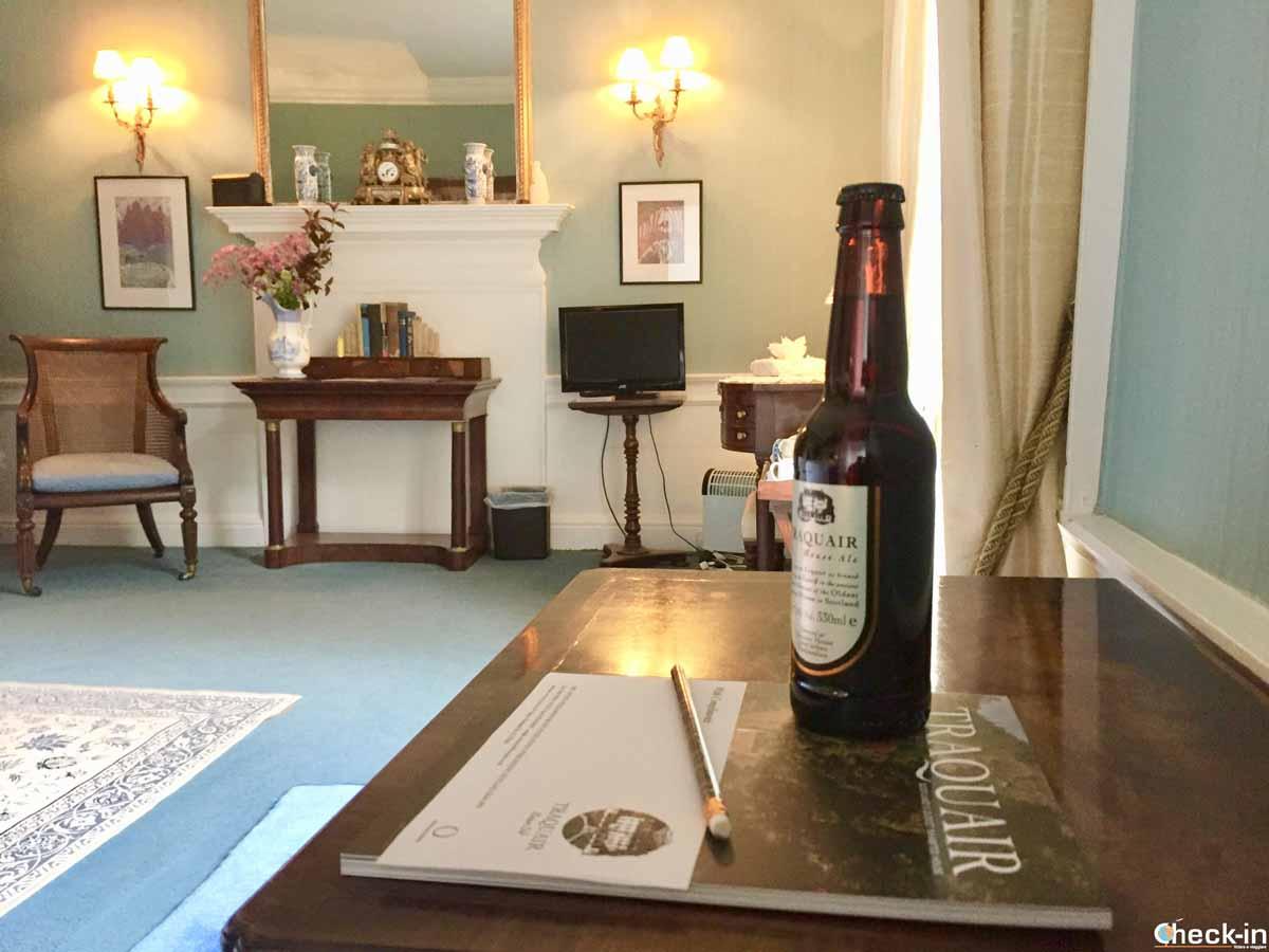 La famosa birra Traquair Ale