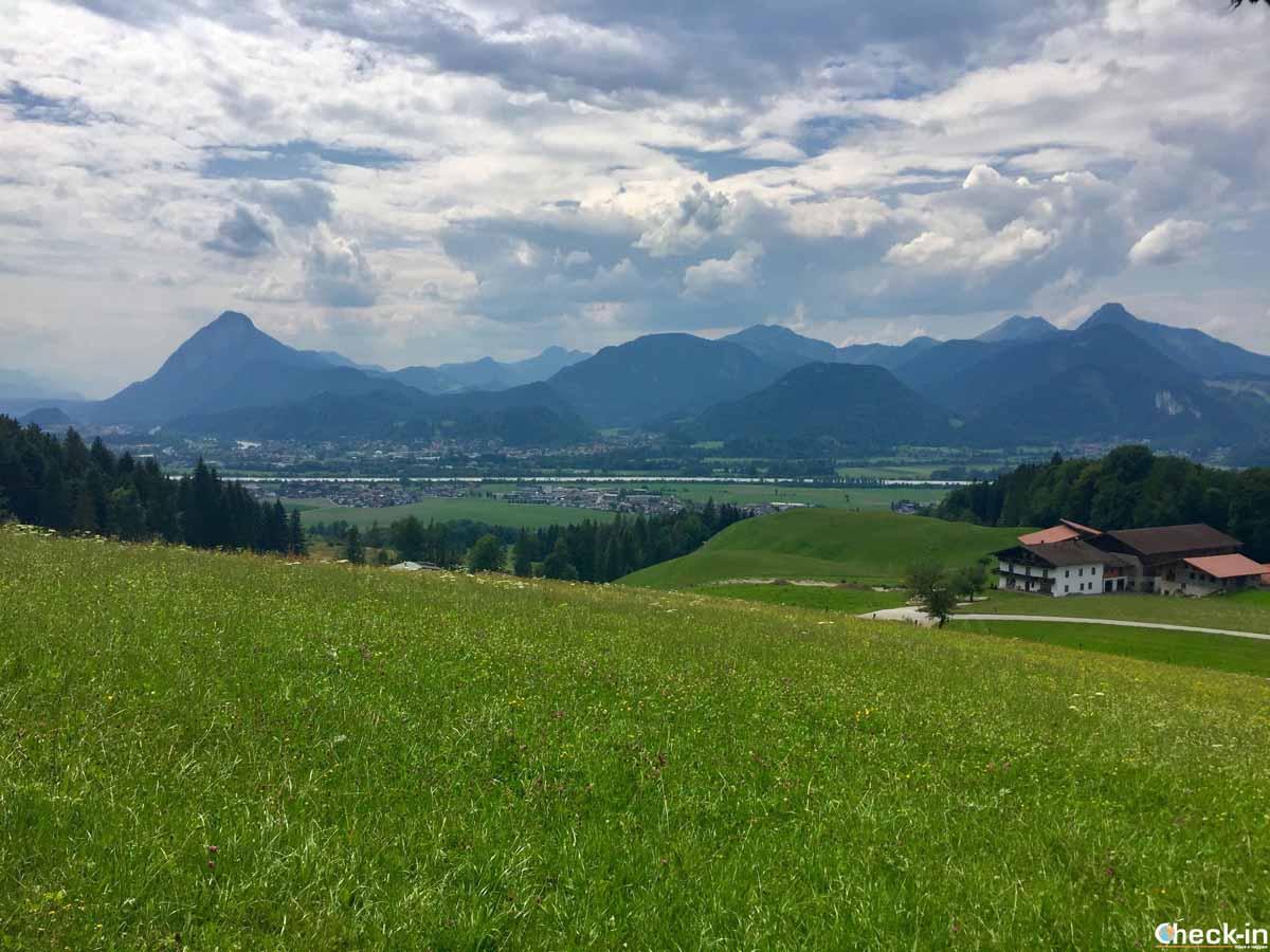 La valle dell'Inn nei dintorni di Kufstein (Tirolo)
