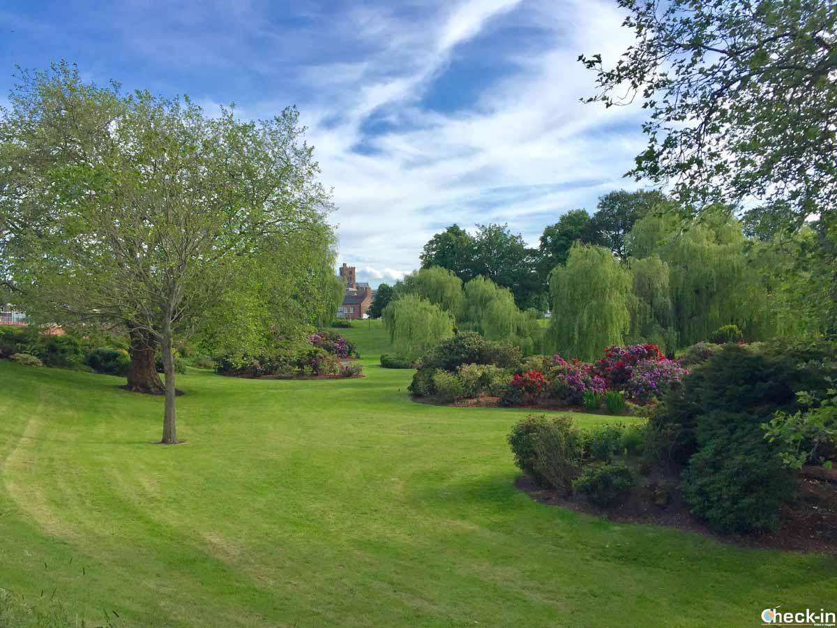 Il Bitts Park vicino al castello di Carlisle