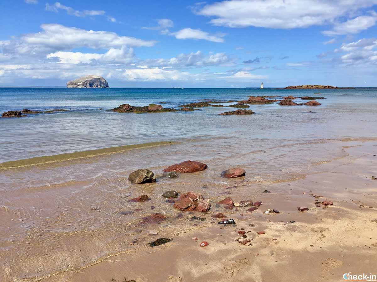 Seacliff Beach e la Bass Rock a North Berwick