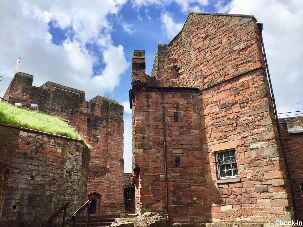 Visita del castello di Carlisle in Inghilterra