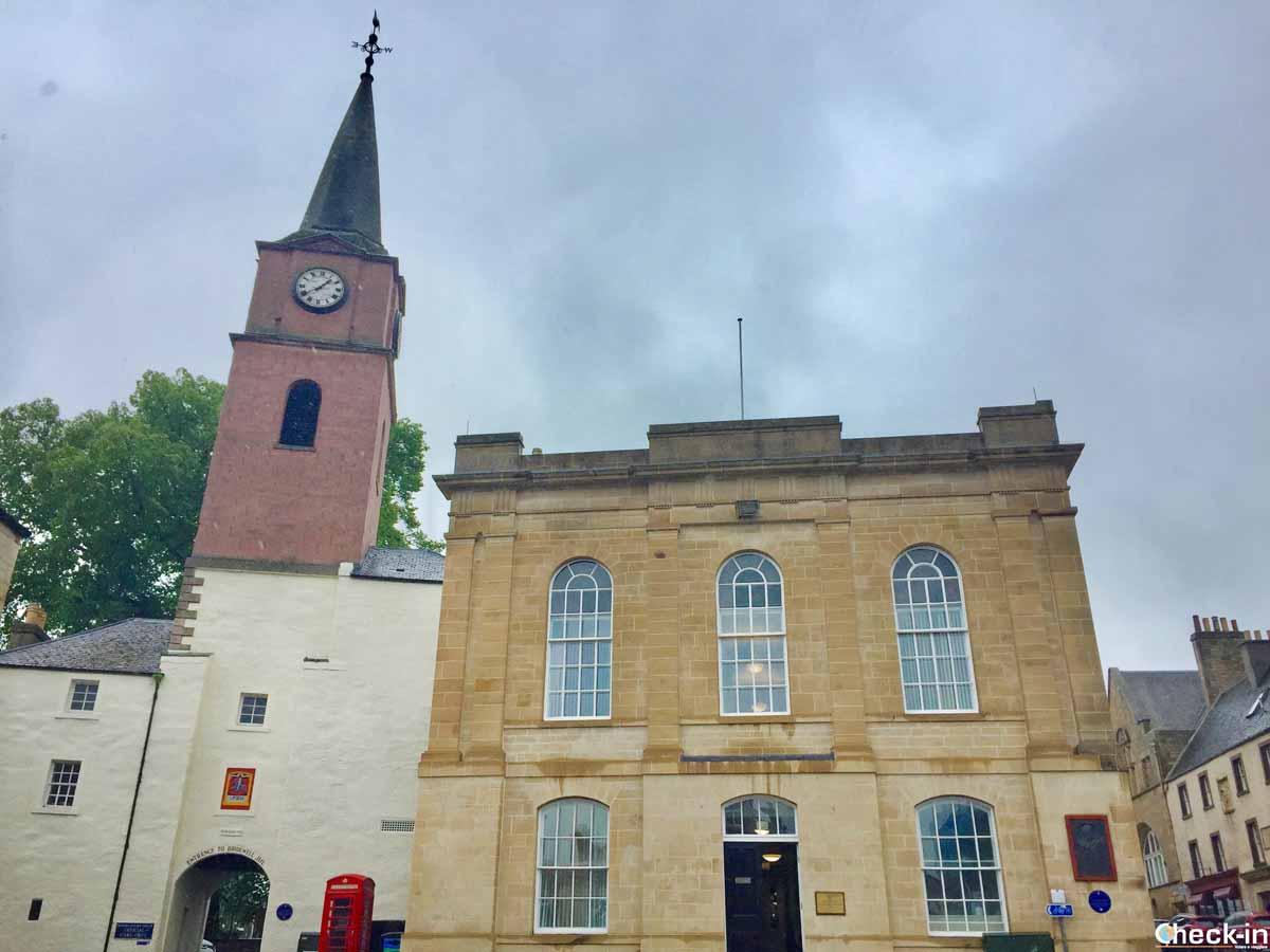Il tribunale nel centro di Jedburgh dove lavorò Walter Scott