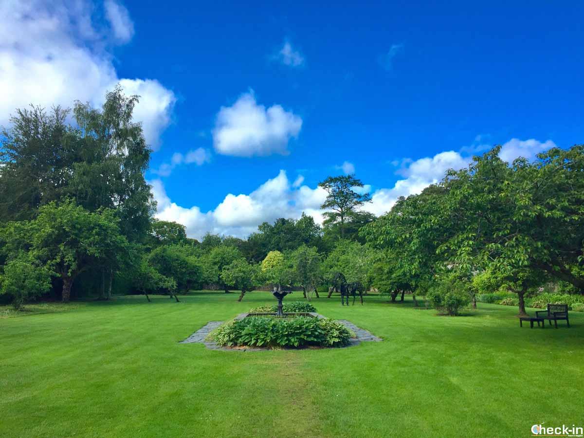 I giardini attorno a Traquair House nei Borders
