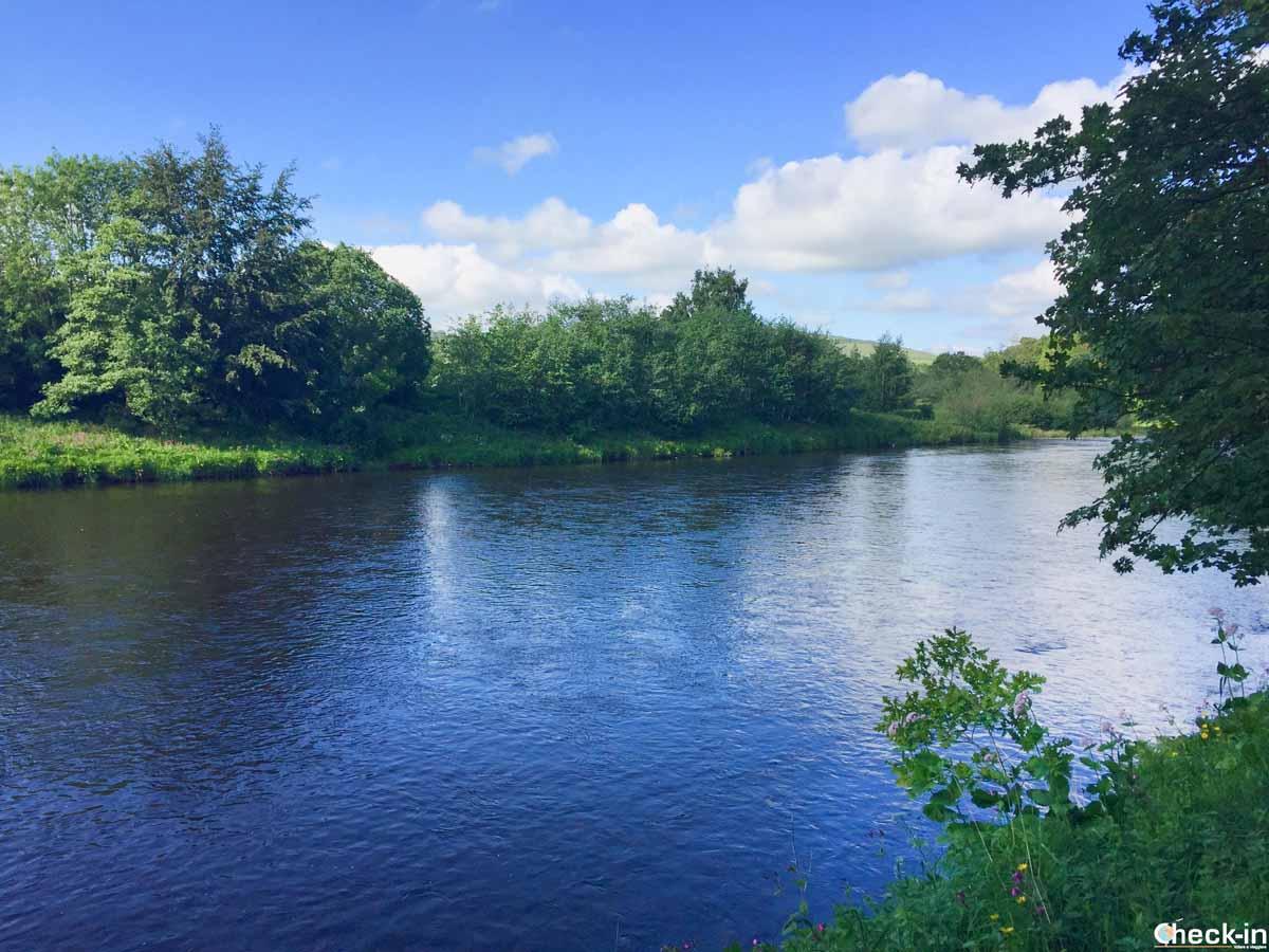 Il fiume Tweed nei dintorni di Abbotsford House