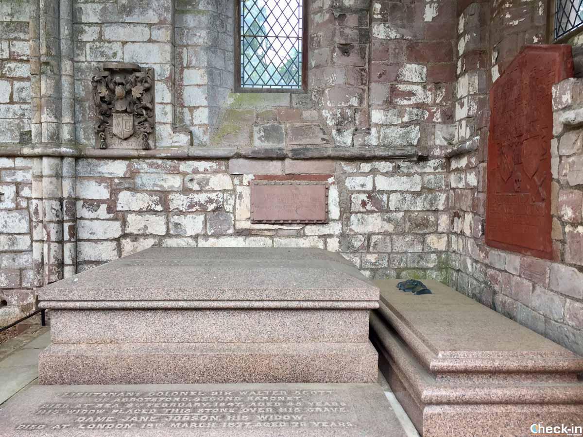 Dov'è seppellito Walter Scott in Scozia?