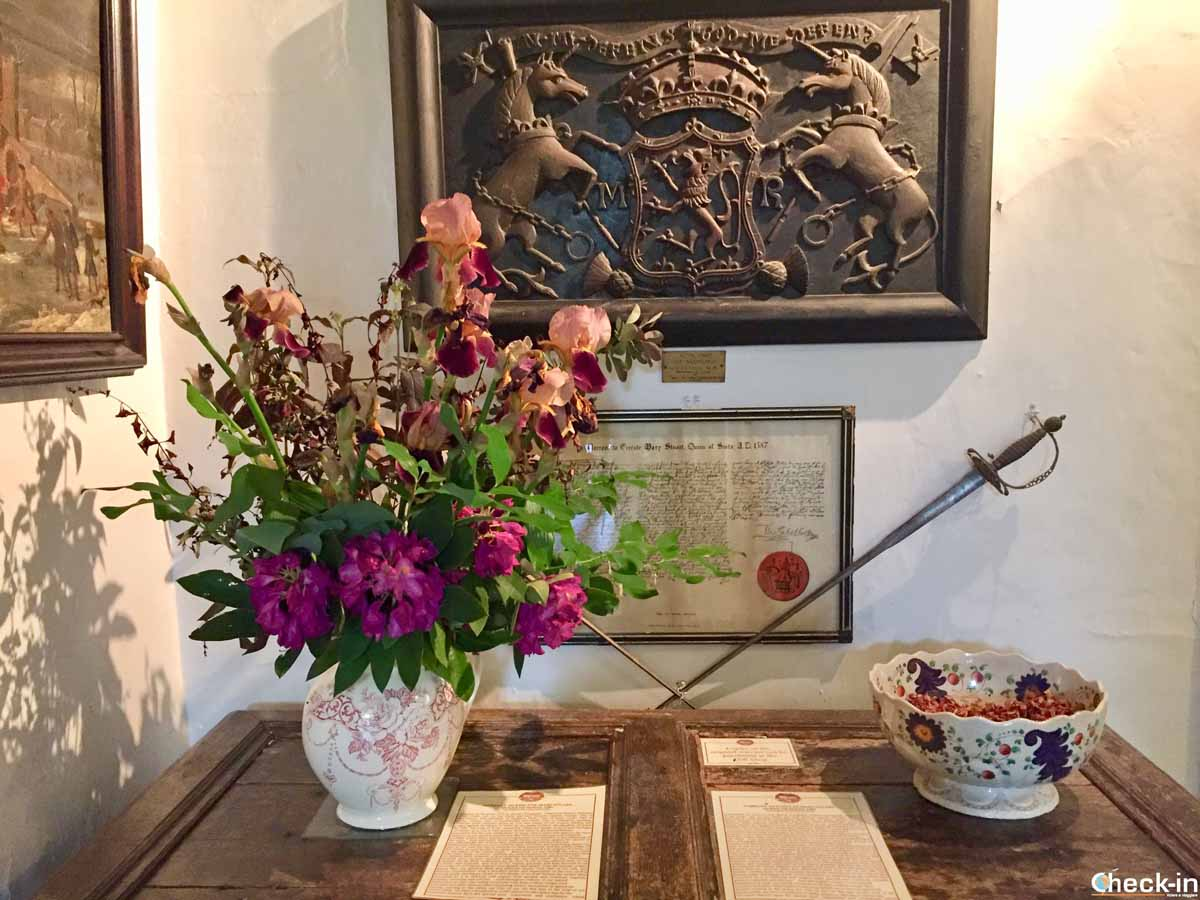 Lo stemma Reale di Maria Stuarda a Traquair House