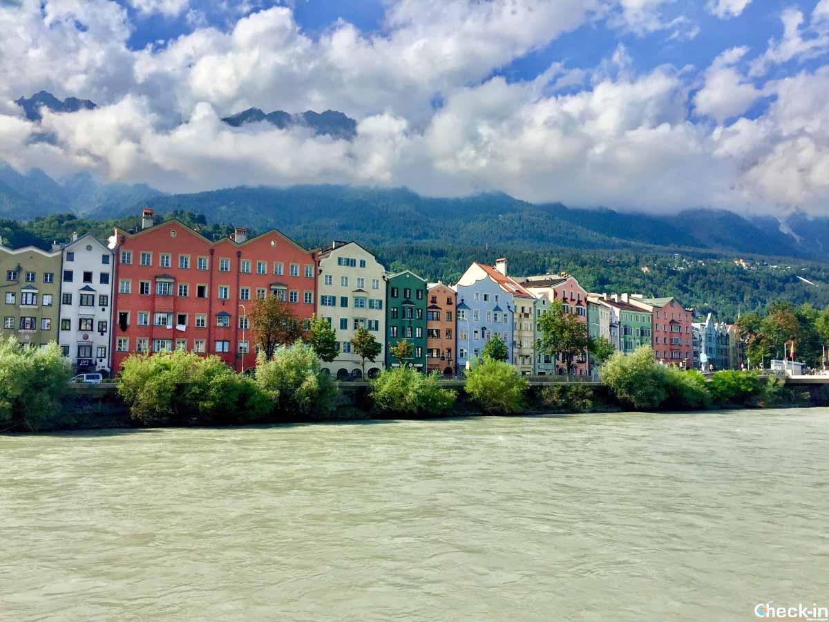 Passeggiata lungo il fiume Inn a Innsbruck