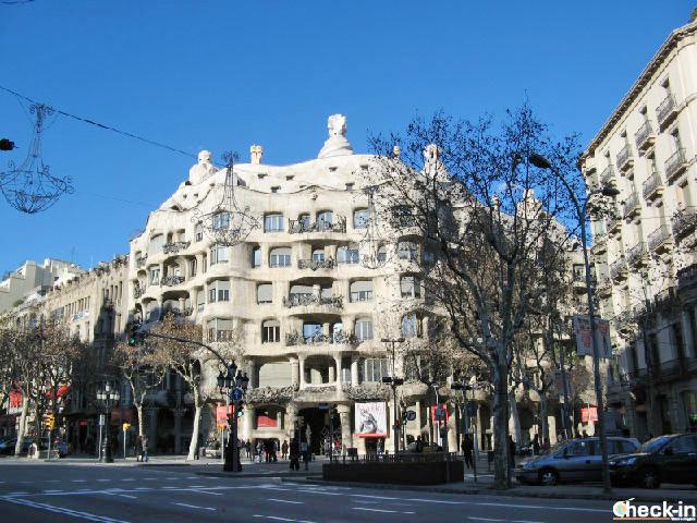 Itinerario di Gaudí in centro a Barcellona - Casa Milà,