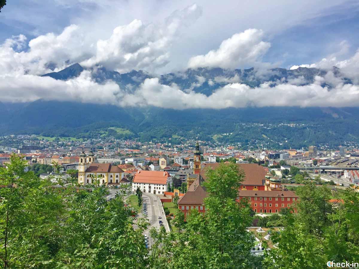 Innsbruck vista dal colle di Bergisel