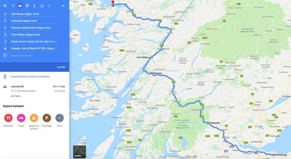 Itinerario da Edimburgo a Skye (via Highlands)